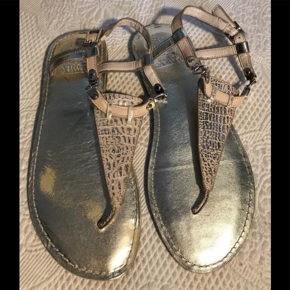 "2ce5682f40fd VINCE CAMUTO ""Itelli"" gold thong sandals. M 5ac0541705f43092edaf1f6b"